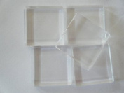 Five 25mm Square Glass Cabochons