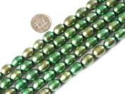 "9-10mm Olivary Varies Colours Freshwater Pearl Beads Strand 15"" Jewellery Making Beads"