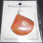 Bead Gallery Amber Dyed Druzy Pendant