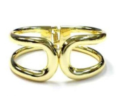 New Gold Tone Sleek Cut Out Style Fashion Bangle Cuff