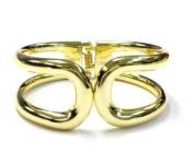 New Gold Tone Sleek Cut Out Style Fashion Bangle Cuff