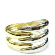New Fun Two Tone Fashion Bangle Cuff