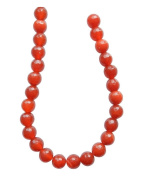 Tennessee Crafts 1263 Semi Precious Red Agate Faceted Beads, Round, 8mm