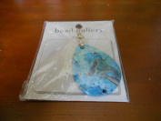 Bead Gallery Blue Dyed Crazy Agate 50X 38X 5 MM Fat Teardrop Pendant