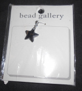 Bead Gallery 15mm Jet CZ Star Pendant