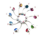 10pcs 16g 12mm Length Wholesale Body Jewellery Ear Belly Tongue Lip Ring