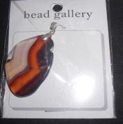 Bead Gallery Red Agate 30-70mm Fancy Shape Pendant Bead