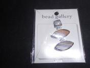 Bead Gallery Tigereye Drop with Silver Edge Pendant Bead