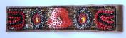 Hand Made Bead Embroidery Flower Bangle Bracelet