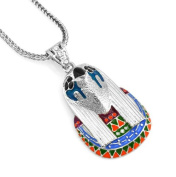 Hip-Hop Bling Iced Silver Tone New Kanye West Egyptian Horus Pendant Necklace Free 60cm chain,