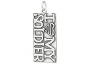 Sterling Silver I Love My Soldier Charm