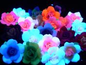 Tie Dye Flower Beads (smaller) - assorted lot of 10