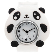 1x Silicone Animal Design Slap Watch with Removable Watch Case - Panda