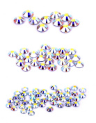 . 80 Piece Hot Fix Crystals Combo Pack, AB by Create Your Style