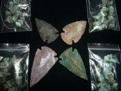 indian arrowhead gemstone focal & natural turquoise beads chips jewellery kit