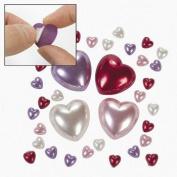 Bulk Adhesive Plastic Pearl Hearts
