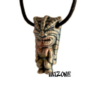 Ceramic Angry Tiki Head Necklace - Parrothead Lovers!