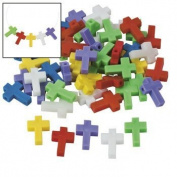 300 Plastic Cross Beads