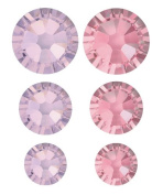 . 90 Piece Flatback Crystals Value Pack, Amethyst and Rose by Create Your Style