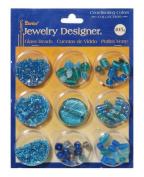 Darice Jewellery Designer - Glass Beads - Aqua & Turquoise Collection