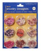 Darice Jewellery Designer - Glass Beads - Pink Collection