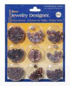 Darice Jewellery Designer - Glass Beads - Purple Collection