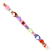Fiona SUP-02-3 7-Inch Valentine Beads Strand with 13mm by 18mm Oval Heart Glass Beads