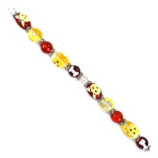 Fiona SUP03-6 Hand Painted Dog and Bones Dog Lover Bead Strand, 18cm