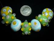 Funky Komatina Juicy Bubbles Lampwork Glass Beads Lot