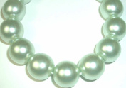 Junesgems Vintage Czech Glass Round Pearl Pale Baby Blue Jewellery Beads Spacer Focal B90