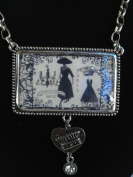 Popular Creations Embellished Vintage Charms Paris with Chain
