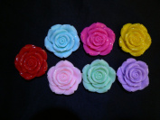 Pastel Flowers - assorted lot of 10