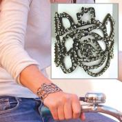 Alexa's Angels Emma Rose Leather Rose Bracelet