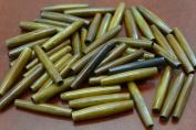 50 Pcs Coffee Brown Bone Hair Pipe Beads Pendants 3.8cm