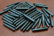 50 Pcs Black Bone Hair Pipe Beads Pendants 3.8cm
