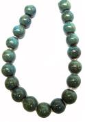 Bead Collection 40136 Ceramic Turquoise Round 10M Beads, 20cm