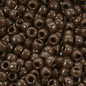 The Beadery 6 by 9mm Barrel Pony Bead in Chocolate, 900-Piece