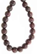 Bead Collection 40306 Semi Precious Garnet Round Beads, 18cm