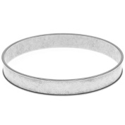 Nunn Design Antiqued Silver Plated Round Channel Bangle Bracelet - 7cm