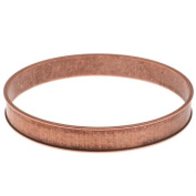 Nunn Design Antiqued Copper Plated Round Channel Bangle Bracelet - 7cm
