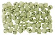 The Beadery 120ml Bag of Skull Beads, Glow in the Dark Antiquing