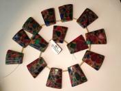 Mosaic Quartz Trapezoid 22x28mm 14pcs 17''per Strand Jewellery Making and Design Finding Pedant Charms