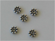 BS4-50 4mm .925 Sterling Silver Bali Daisy spacer beads