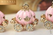 H299 Wholesale 3pcs Cute Pink Princess Pumpkin Carriage Charm Pendant