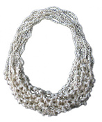 Natural White 3-prong Dove Shell Leis / 1 Dozen