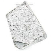 Metallic Silver-tone Agate Drusy Focal Bead Free Shape Approx. 32x26x11mm