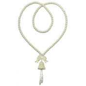 Kate Marie Elegant Artificial Pearl Necklace in Bell Design Enchanted with Rhinestone.