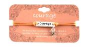 Heart On Your Sleeve Design Scripture Bracelet Courage