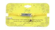 Heart On Your Sleeve Design Scripture Bracelet Joy