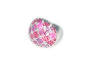 Viva Beads Pink Paradise Ring | Stretch Crystal | - Handmade Clay Beads Jewellery 05106022